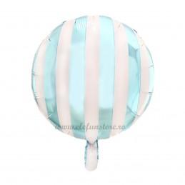 Balon Rotund Bleu cu Dungi