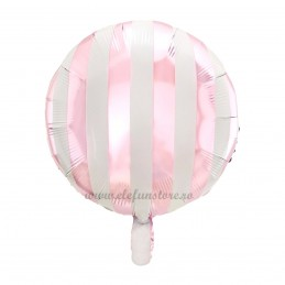 Balon Rotund Roz cu Dungi