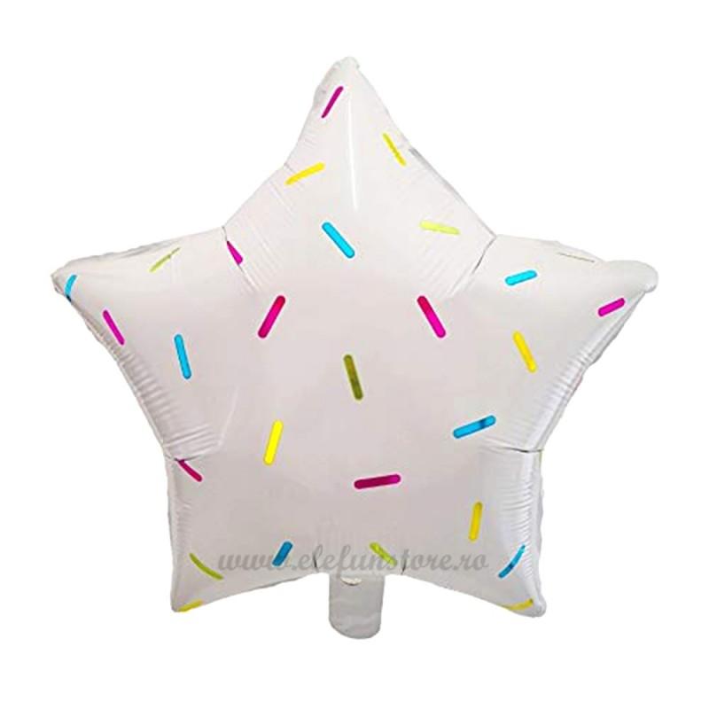 Balon Stea Alba Sprinkles