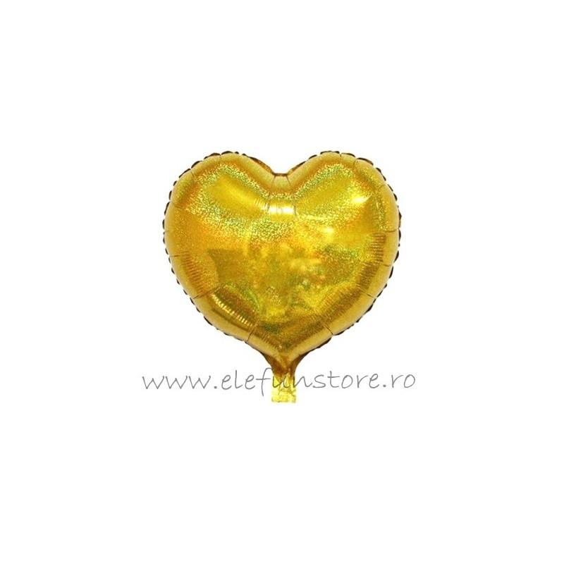 Balon Inima Holograma Aurie 45cm