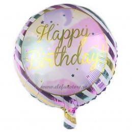 Balon Happy Birthday Dungi Pastel