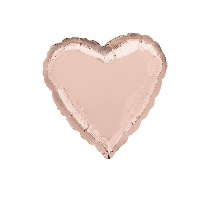 Balon Inima Rose Gold 25 cm