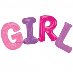 Balon Scris GIRL Asortat