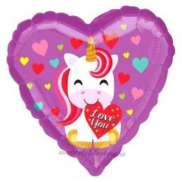 Balon Inima Baby Unicorn