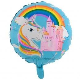 Balon Castelul Unicornilor Bleu