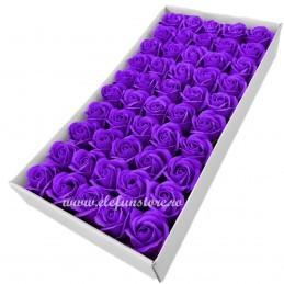 Set 50 Trandafiri de Sapun Mov