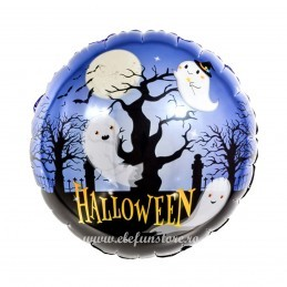 Balon Rotund Padurea Bantuita Halloween