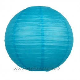 Lampion Suspendat Rotund Bleu 35cm