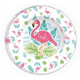 Set 8 farfurii Flamingo Party 23cm