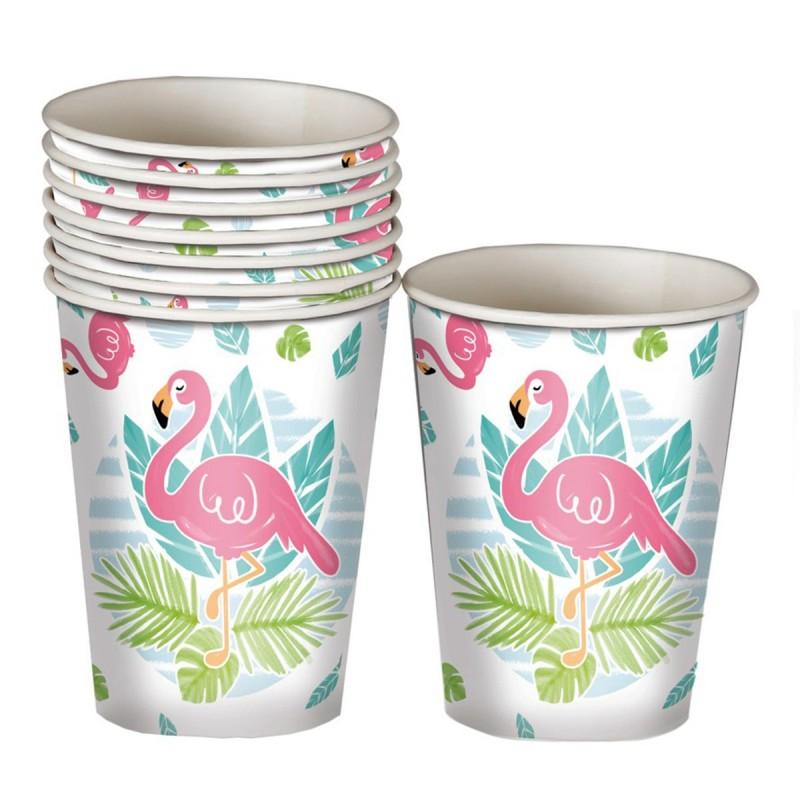 Set 8 pahare Flamingo Party 220ml