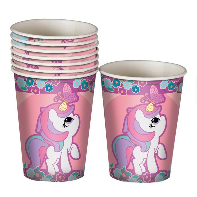 Set 8 pahare Baby Unicorn 220ml