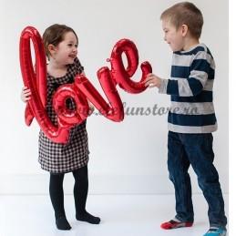 Balon Mesaj LOVE Rosu