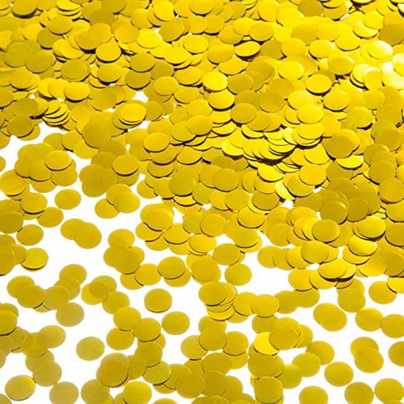 Tun confetti cerculete aurii 40 cm