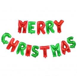 Set Litere Merry Christmas 40cm Rosu si Verde