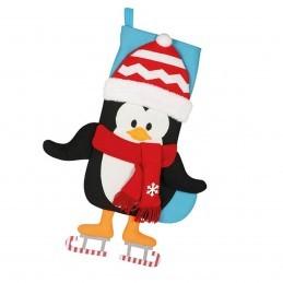 Soseta Pinguin 3D Pentru Cadouri de Craciun