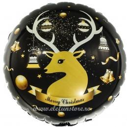Balon Rotund Golden Christmas