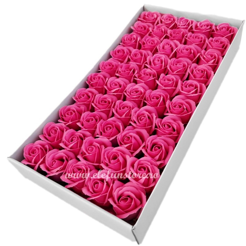 Set 50 Trandafiri de Sapun Fucsia
