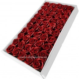 Set 50 Trandafiri de Sapun Grena