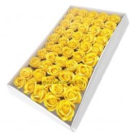 Set 50 Trandafiri de Sapun Galbeni