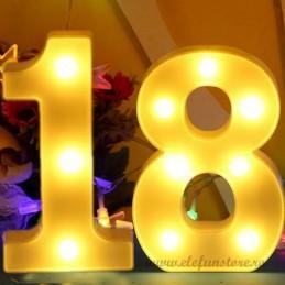 Decoratiuni LED Cifre 18 Majorat