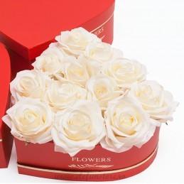 Set 3 cutii inima rosii Flowers