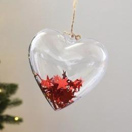 Inima Acrilica Transparenta 6 cm