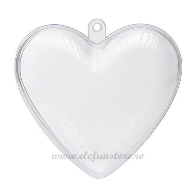 Inima Acrilica Transparenta 11 cm
