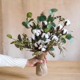 Set 10 Flori de Bumbac 32cm