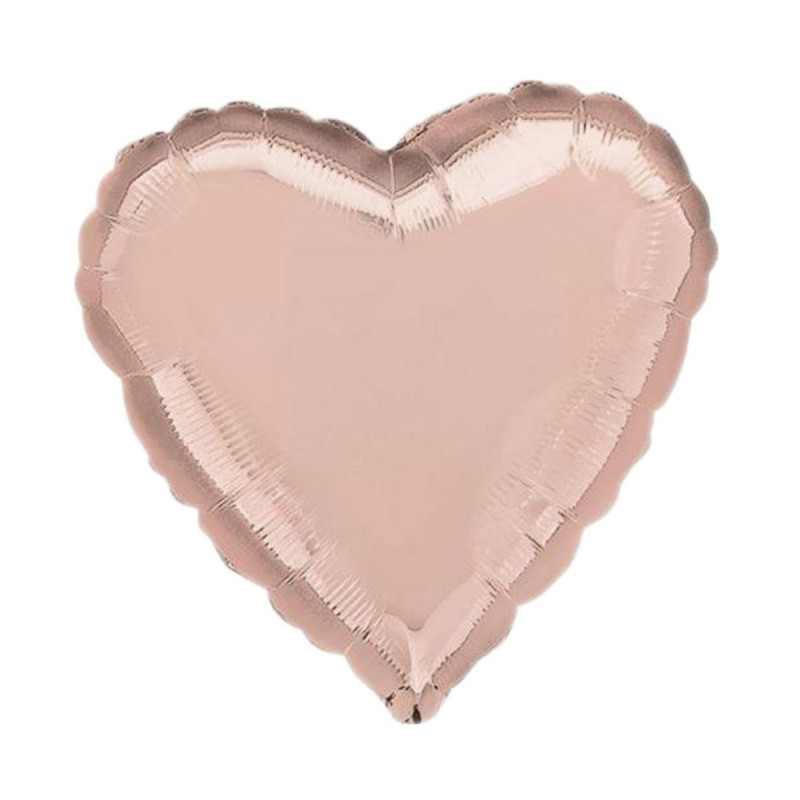 Balon Inima Rose Gold Metalizata 45cm