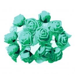 Set 144 trandafiri din spuma aqua 2cm