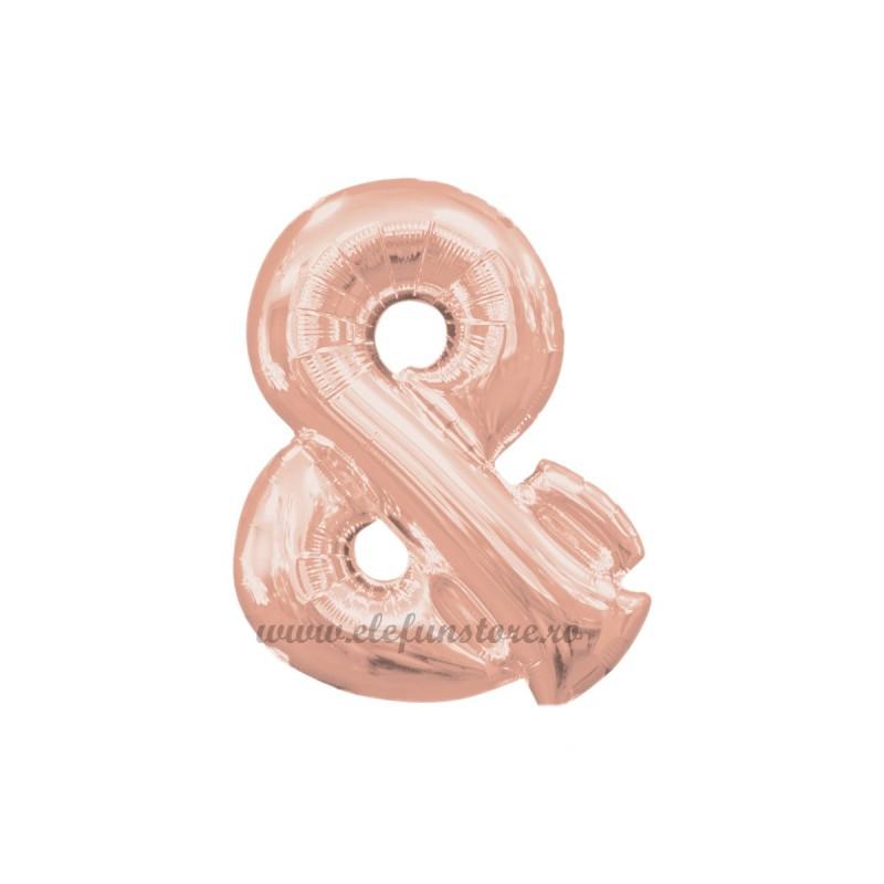 Balon Simbol & Rose Gold 40 cm