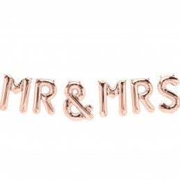 Set Litere MR & MRS 40cm Rose Gold