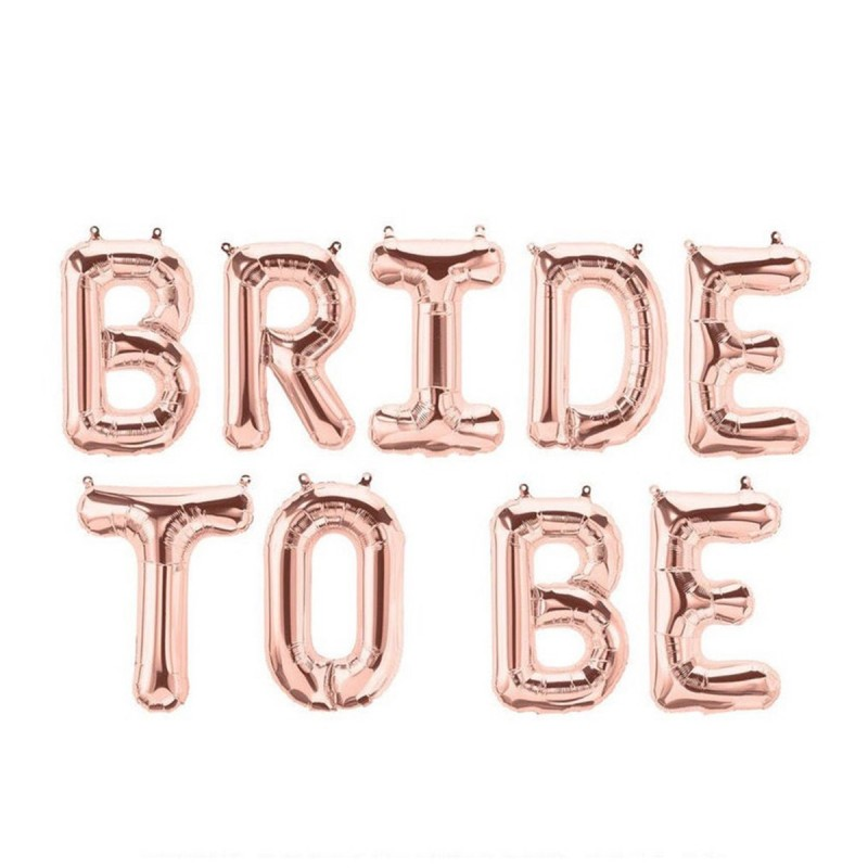 Set Litere Bride To Be 40cm Rose Gold