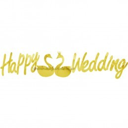 Banner Happy Wedding Auriu