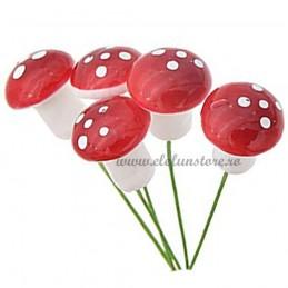 Set 10 Ciupercute Ornamentale 2 cm