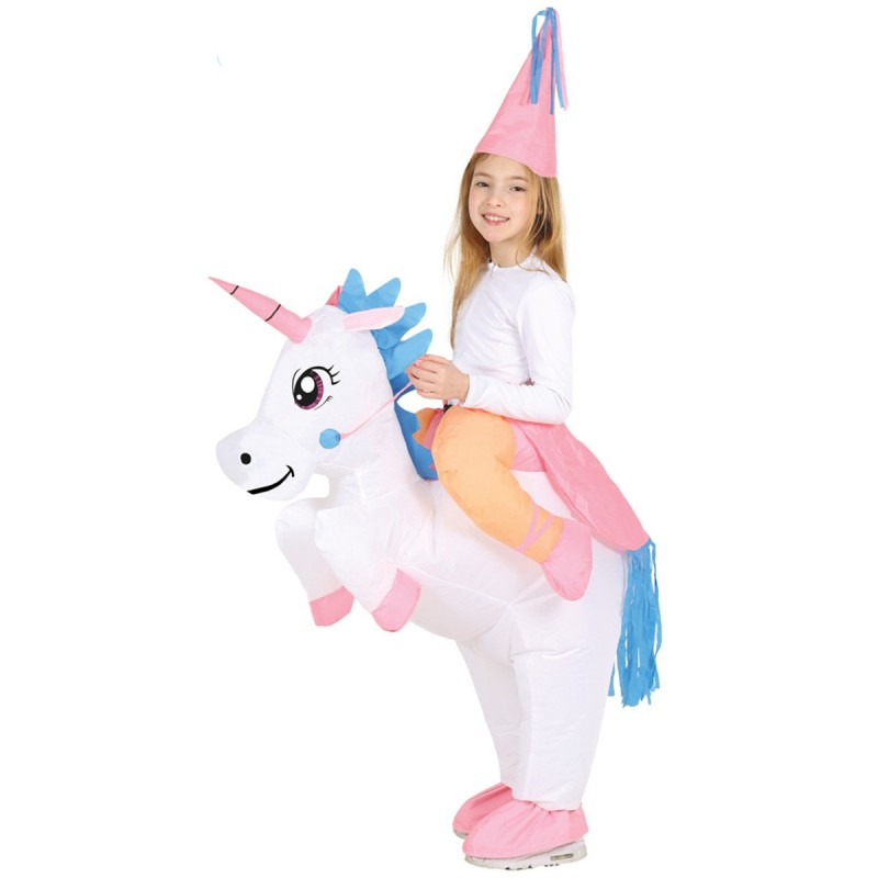Costum Unicorn Gonflabil copii 7-9 ani