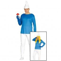 Costum Strumf adult, marimea M