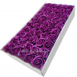 Set 50 Trandafiri de Sapun Royal Purple