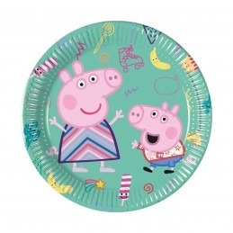 Set 8 farfurii Peppa Pig 20 cm
