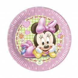 Set 8 farfurii Baby Minnie Mouse 20 cm