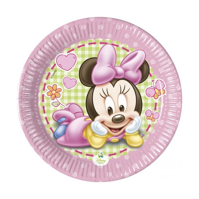 Set 8 farfurii Baby Minnie Mouse 20 cm