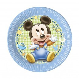 Set 8 farfurii Baby Mickey Mouse 20 cm