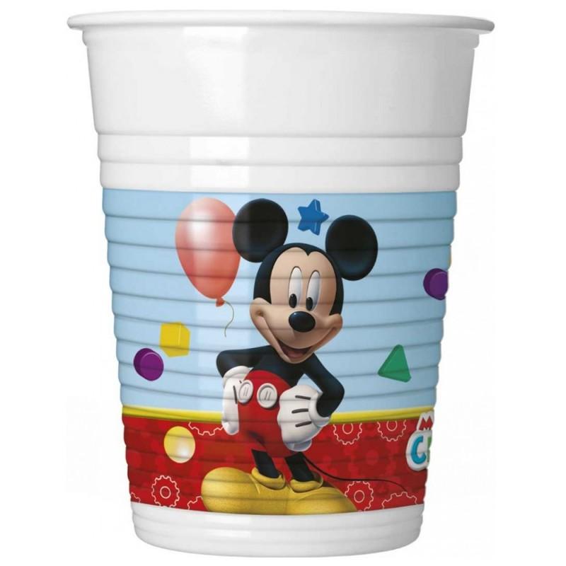 Set 8 pahare Clubul lui Mickey Mouse