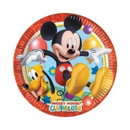 Set 8 farfurii Clubul lui Mickey Mouse 20 cm