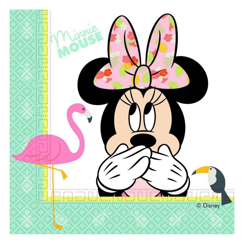 Set 20 servetele Minnie Mouse Tropical