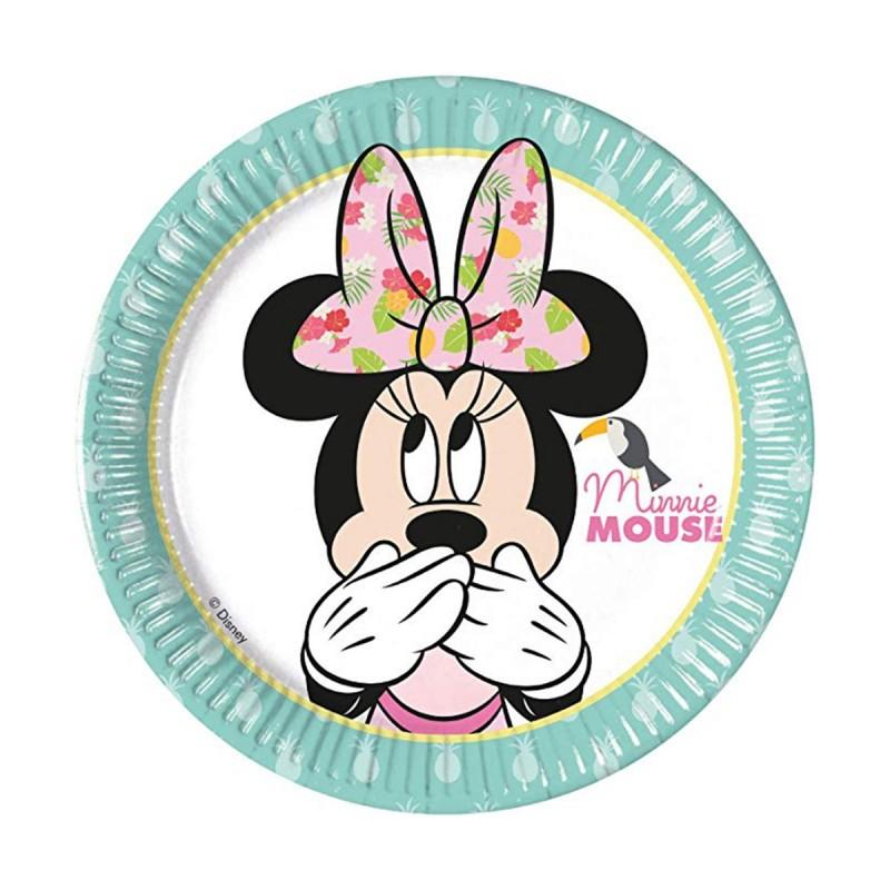 Set 8 farfurii Minnie Mouse Tropical 20 cm