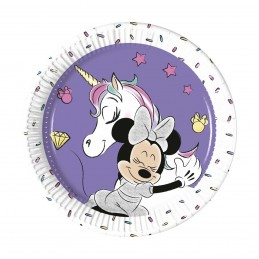 Set 8 farfurii Minnie Mouse Unicorn 20 cm
