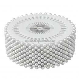 Set 480 ace cu perle albe 3 cm
