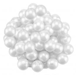 Perle albe 1 cm, 50 grame