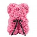 Ursulet din trandafiri roz 25 cm